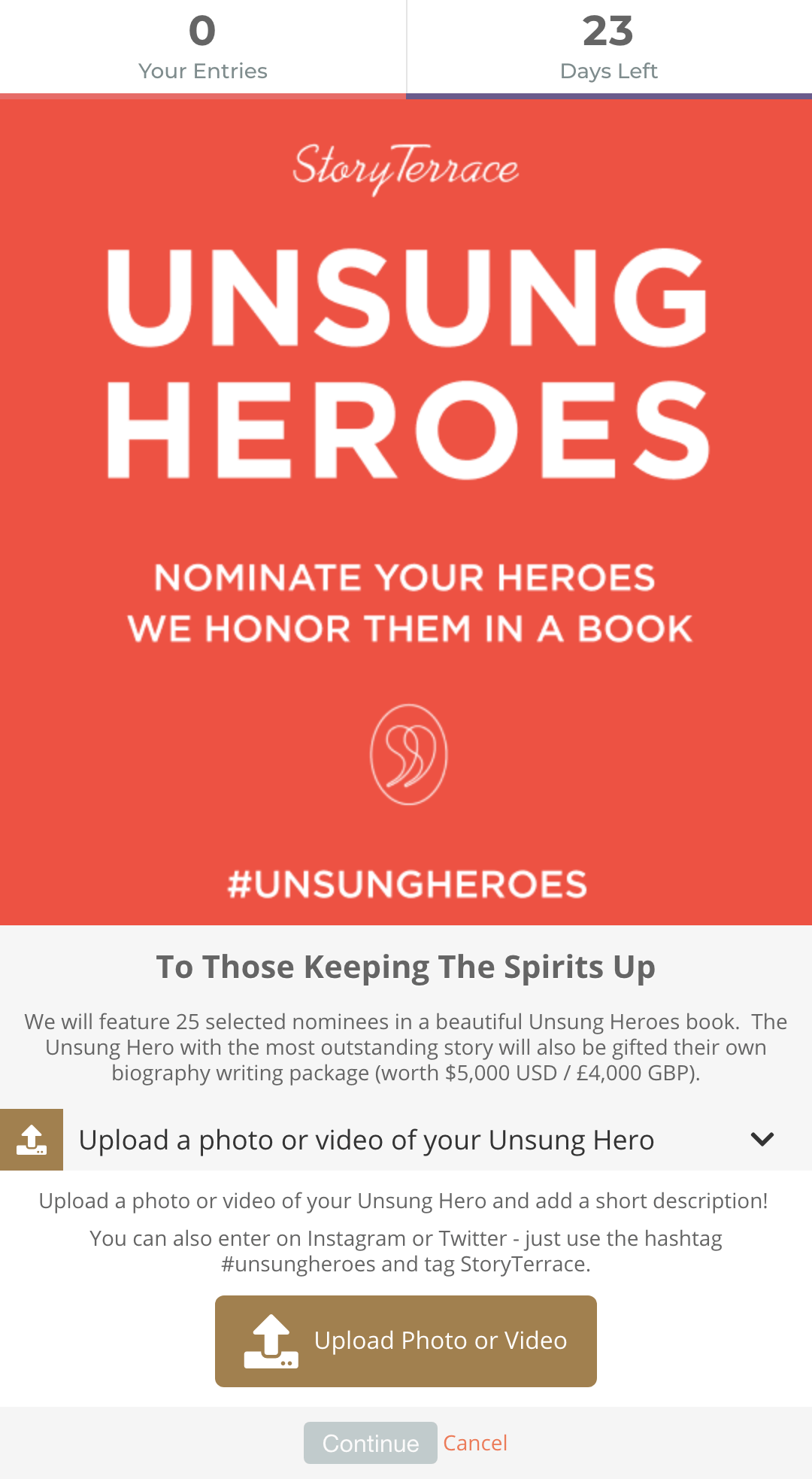 StoryTerrace's Unsung Heroes campaign