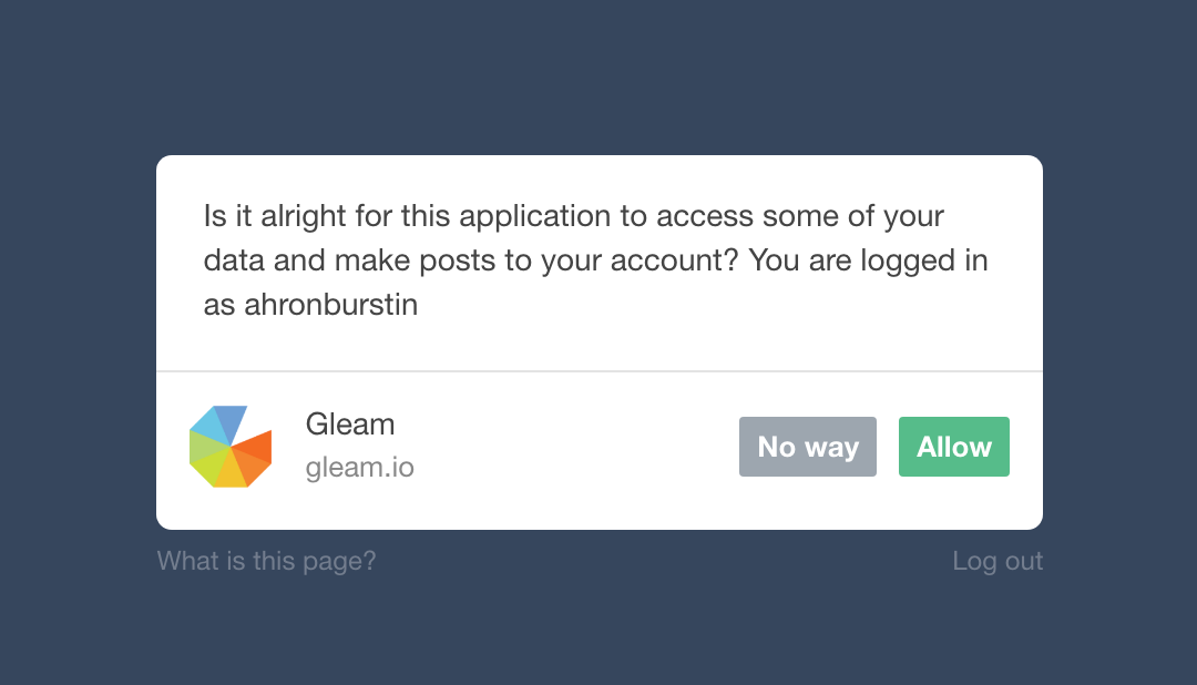 tumblr actions competition setup gleam documentation