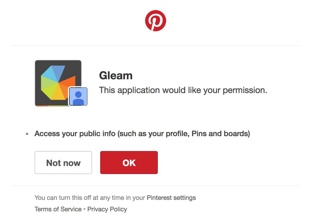 8fd55b681c1 Pinterest Contest Setup - Gleam Documentation