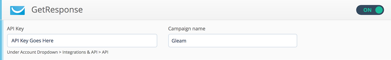 gleam getresponse integrationGetresponse Integration #14