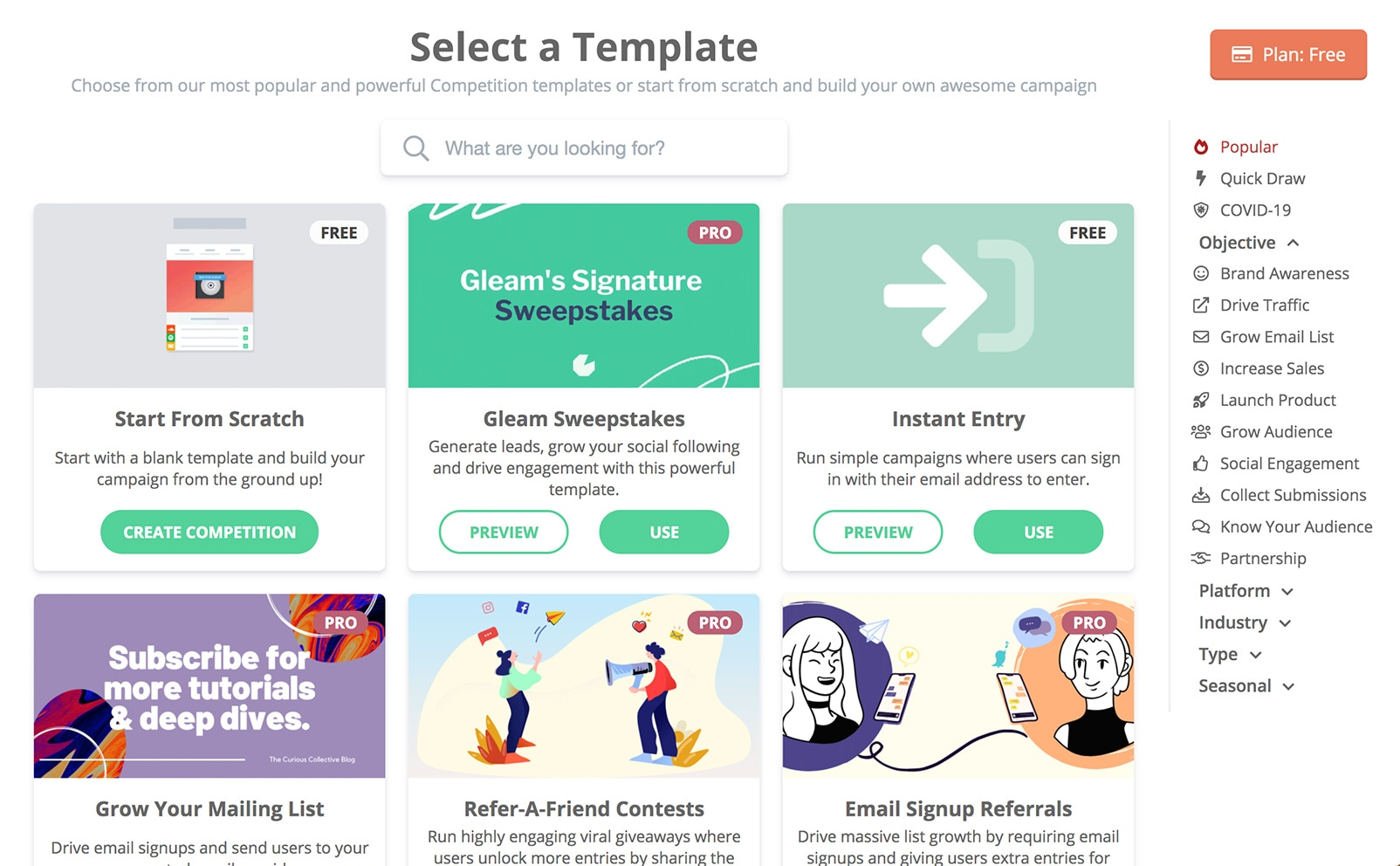 Gleam's Competition Templates Library