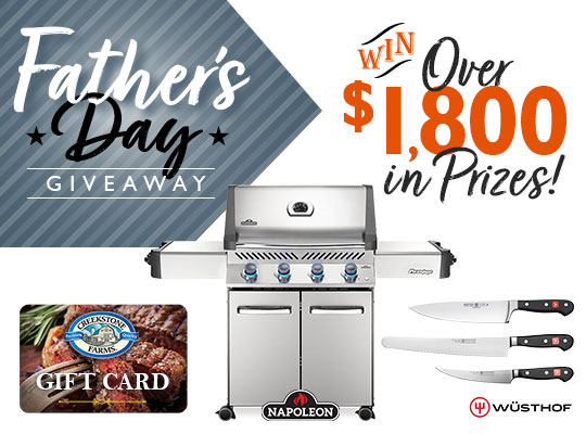 Father's Day $1800 Gas Grill Prize Package! Giveaway Image