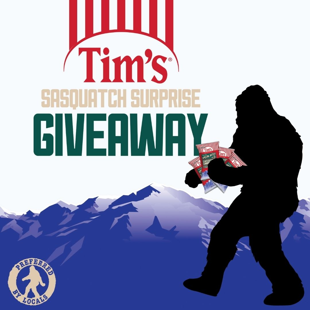 Sasquatch Surprise Giveaway! Win a Box full of Tim's Cascade Chips! 5 winners! Giveaway Image