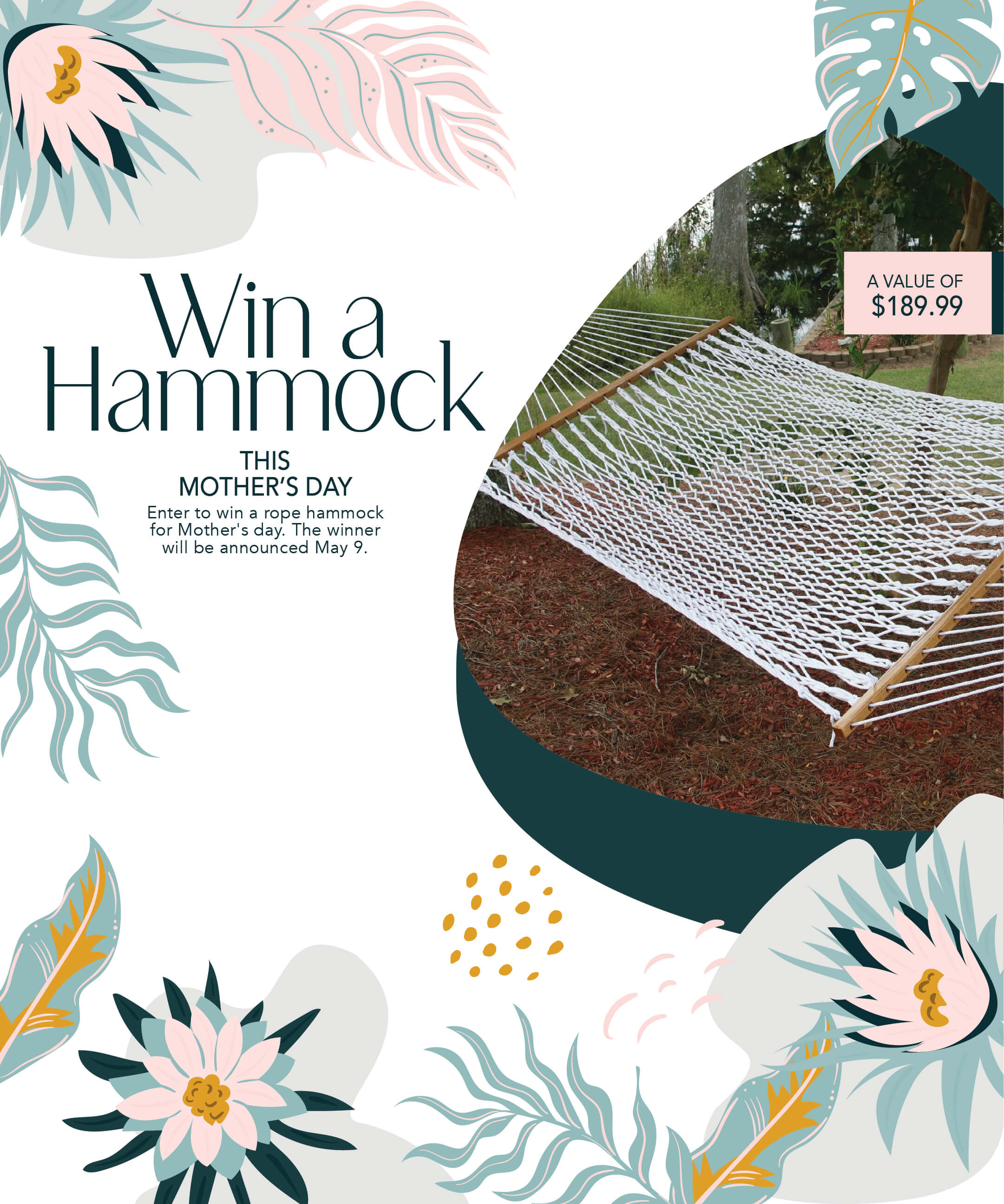 Mothers Day Giveaway ~ Win a $189 Hammock! Giveaway Image