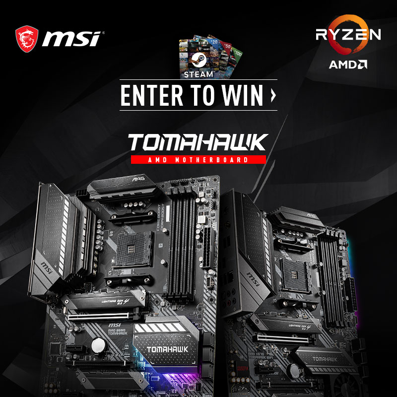 online contests, sweepstakes and giveaways - MSI B550 Launch Campaign