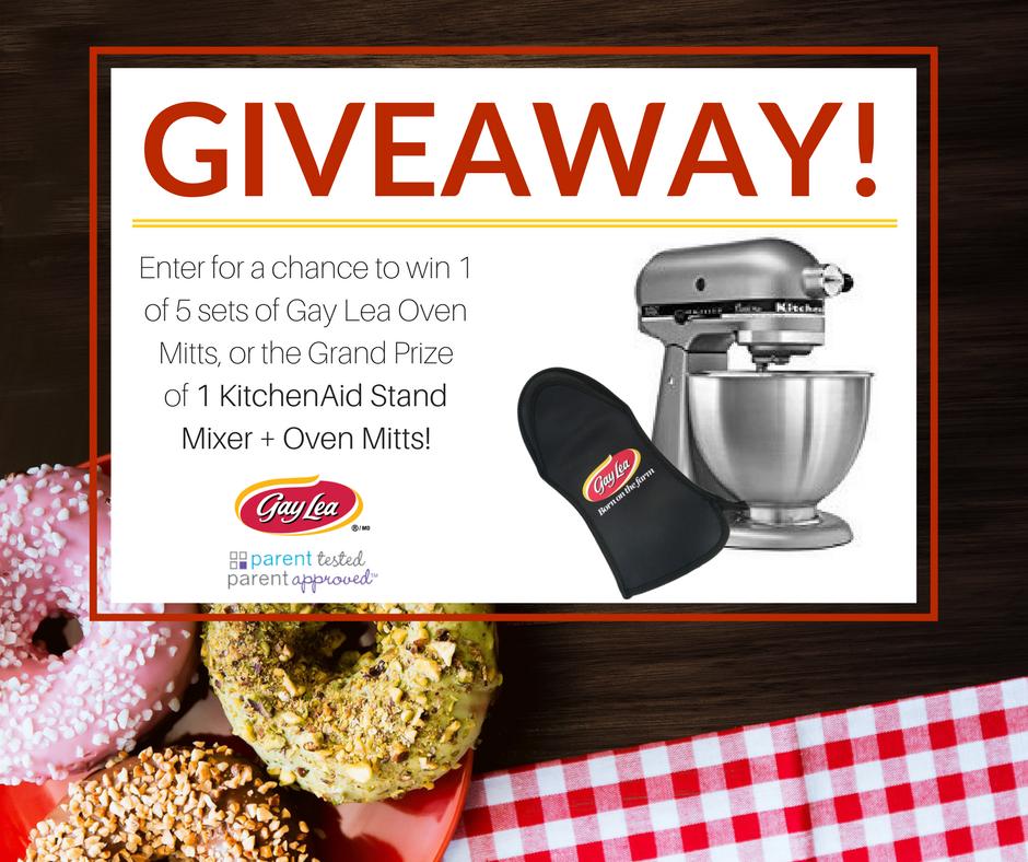 Kitchenaid contest win kitchenaid stand mixer gay lea oven mitts - Kitchenaid oven gloves ...