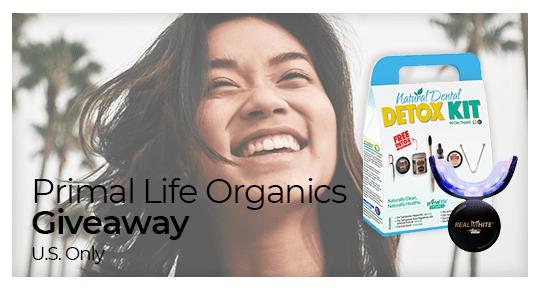 Primal Life Organics Giveaway ~ Win a Dental Detox Kit + LED Teeth Whitener - 2 Winners! ($575 value) Giveaway Image