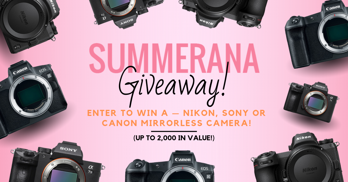 Nikon, Sony, OR Canon Camera Giveaway (nearly a $2,000 Value!) Giveaway Image