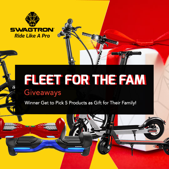 Win a Fleet of Swagtron Rideables for the Fam Giveaway Image