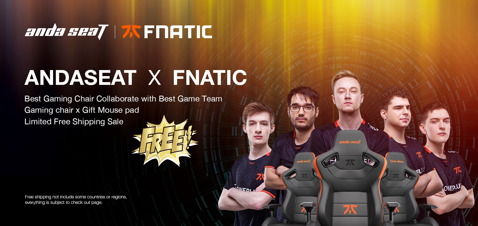Andaseat Fnatic Edition Gaming Chair Global Giveaway--Cheer for Fnatic (LOL Worlds 2020) Giveaway Image