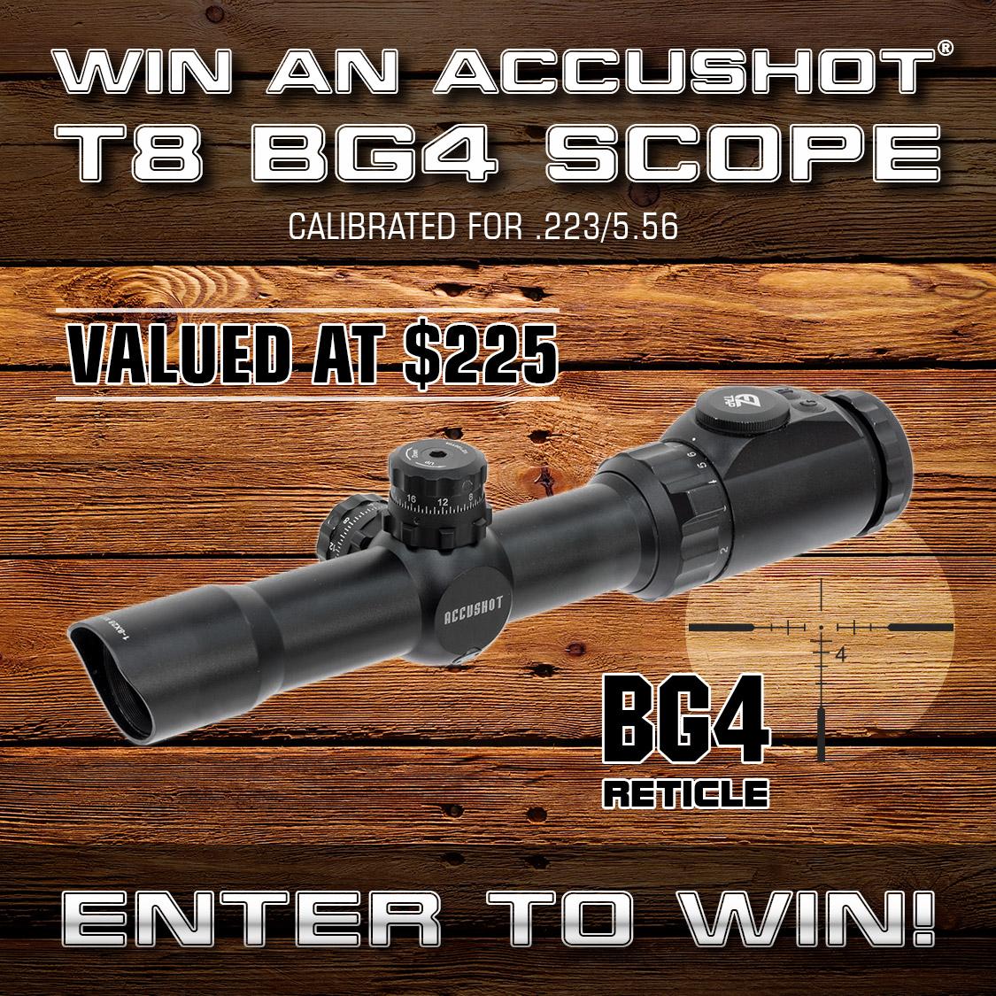 Accushot T8 BG4 Scope Giveaway (3 Winners) Giveaway Image