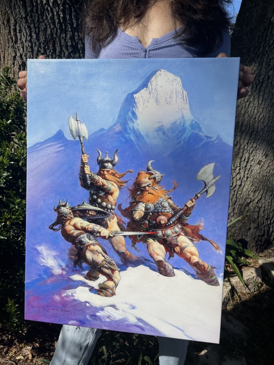 """Win the Frazetta's Conan """"Snow Giants"""" Stretched Canvas Giveaway Image"""
