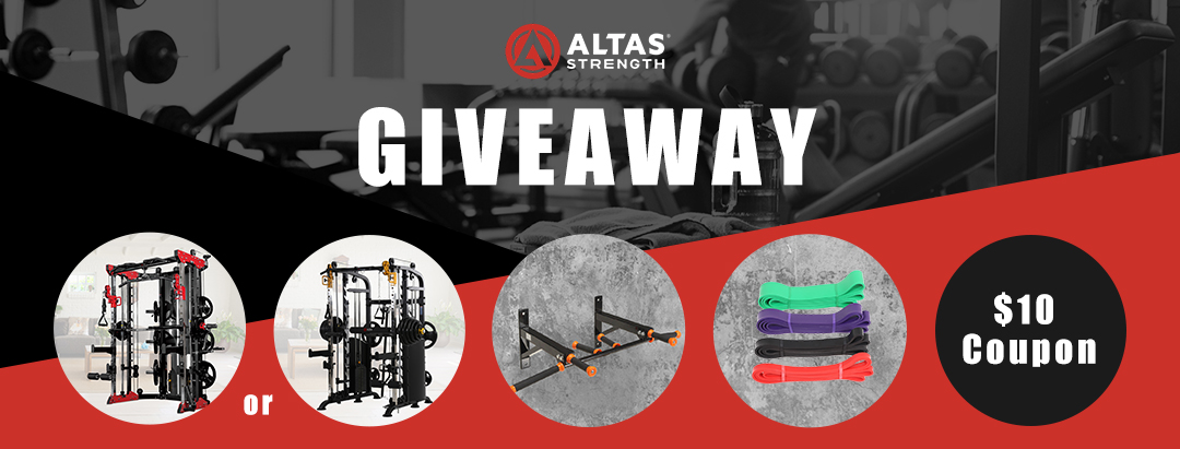 Altas Strength workout equipment giveaway. Multiple Prizes Contest. 81 winners! Giveaway Image