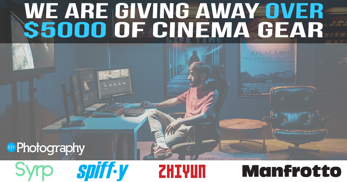 online contests, sweepstakes and giveaways - DIYPhotography is giving away over  $5000 of cinematography goodies to kick-start your Cinematograph