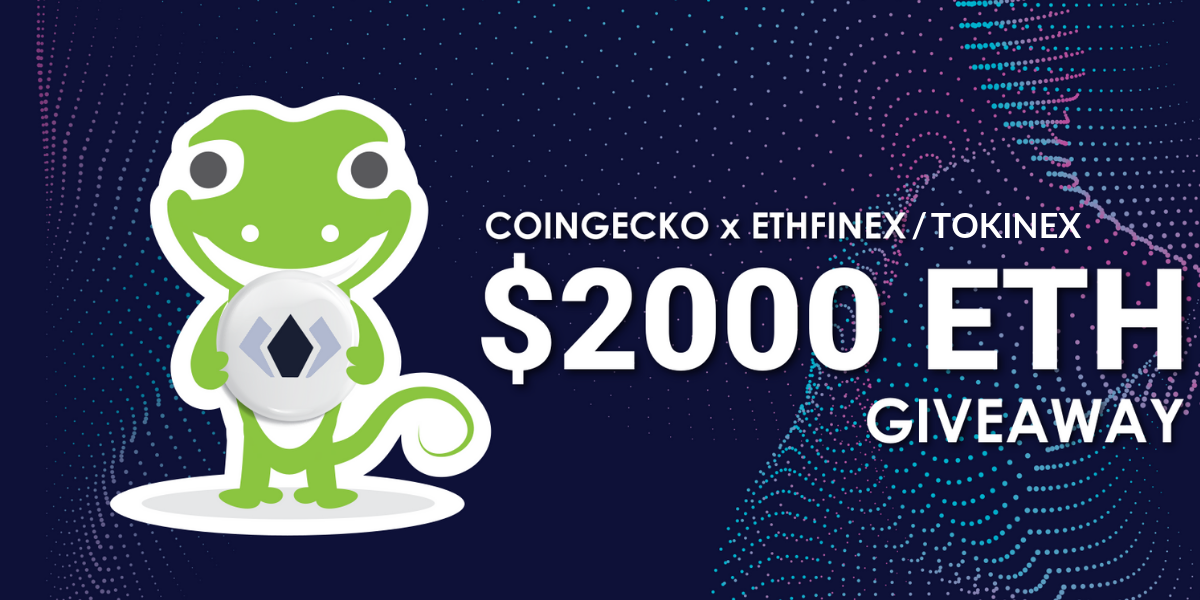$2000 in ETH by CoinGecko, Ethfinex Giveaway Image