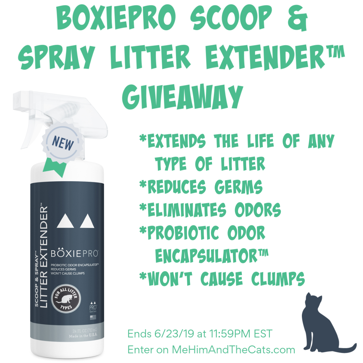 Enter for a chance to win the BoxiePro Scoop & Spray Litter Extender�. Giveaway Image