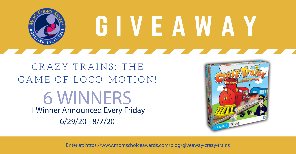 6 winners! Win the board game Crazy Trains: The Game of Loco-Motion! Giveaway Image