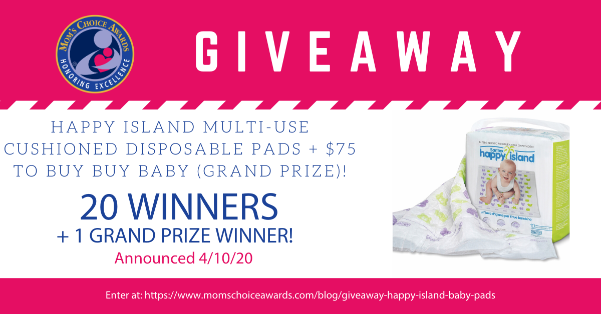 Enter to win Happy Island Multi-Use Cushioned Disposable Pads and a $75 Gift Card to Buy Buy Baby. 21 Winners! Giveaway Image