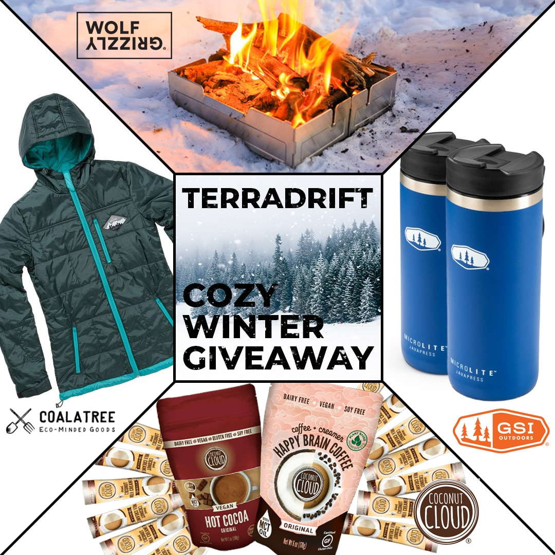 The Terradrift Cozy WInter Giveaway ft. Coalatree, Wolf and Grizzly, GSI, and Coconut Cloud
