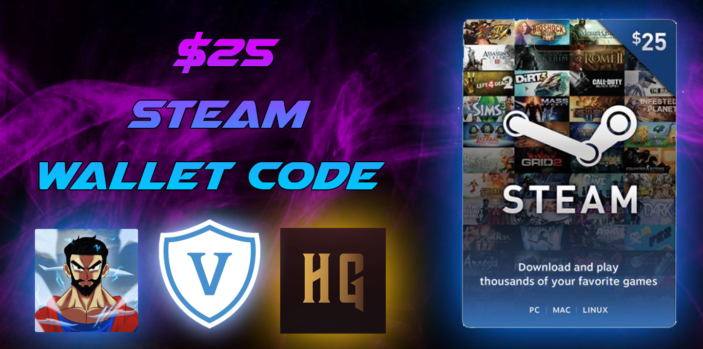 Enter for a chance to win a $25 Steam Gift Card! Giveaway Image