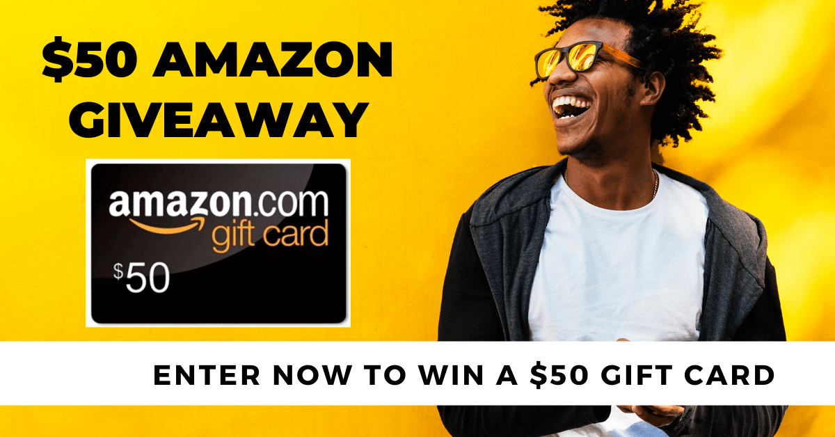 Win a $50 Amazon Gift Card 2f Giveaway Image
