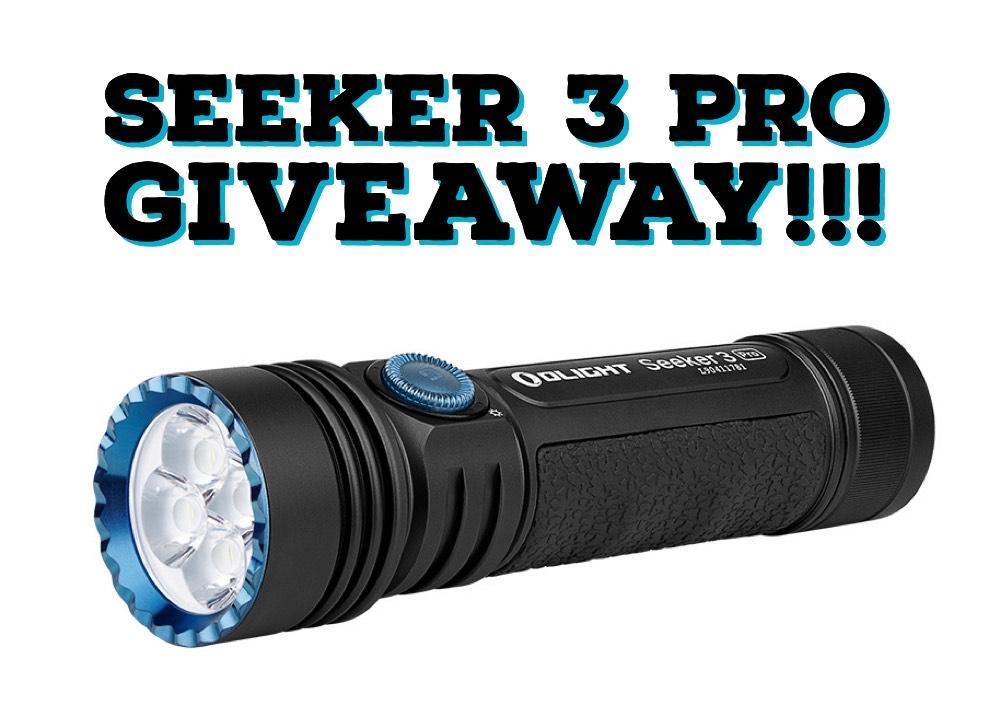 Enter to win a brand new 4,200-lumen Olight Seeker 3 Pro LED Flashlight Giveaway Image
