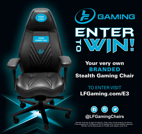 Win a LF Gaming Stealth Chair - Customized with your logo / gamer tag Giveaway Image