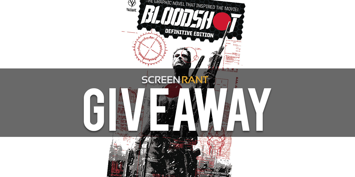 Enter to win a physical copy of Bloodshot: Definitive Edition. Retails at $25 each. 10 Winners!  See Rules for Exclusions Giveaway Image