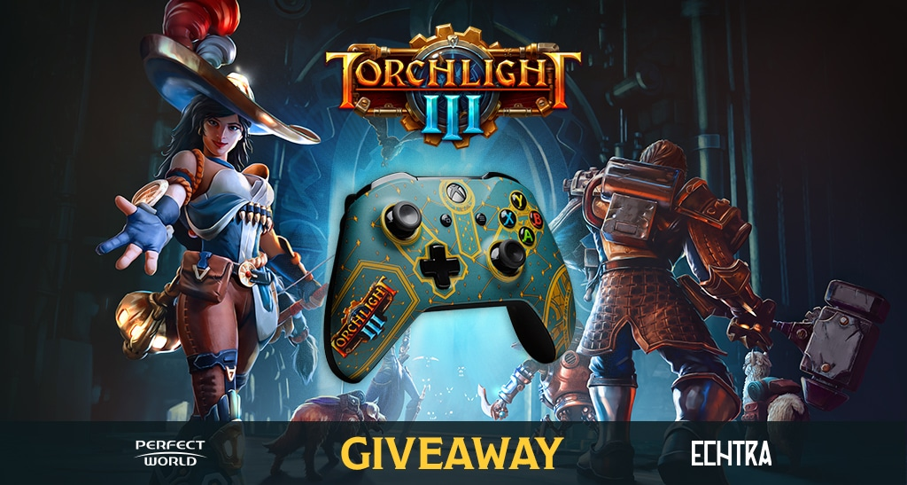 Enter to win a Torchlight III Custom Xbox Controller and a digital copy of Torchlight III. Secondary winner will also receive a copy of the game.  See Rules for exclusions Giveaway Image