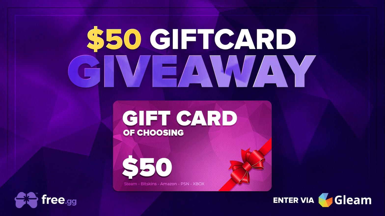$50 GIFT CARD GIVEAWAY Giveaway Image