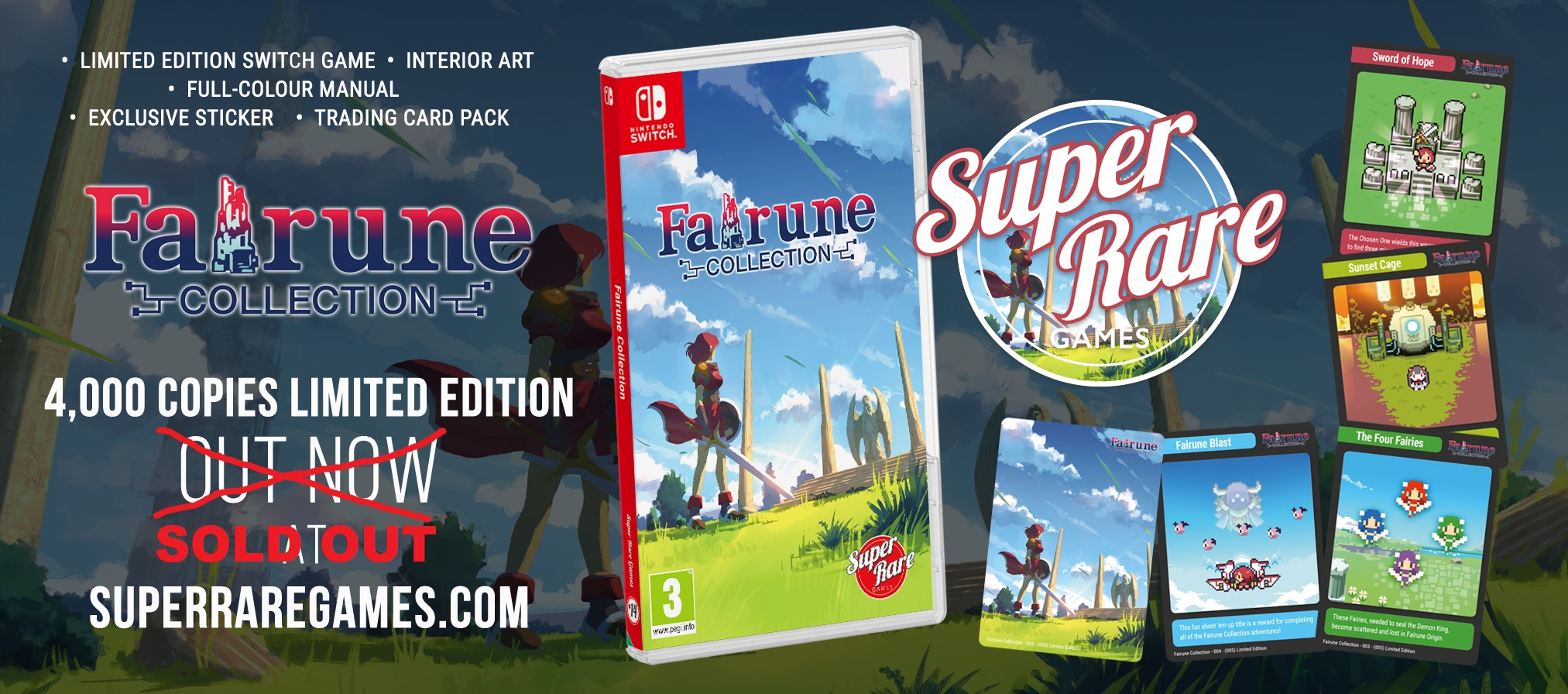 Enter for a chance to win a Switch physical copy of Fairune Collection from Super Rare Games! Giveaway Image