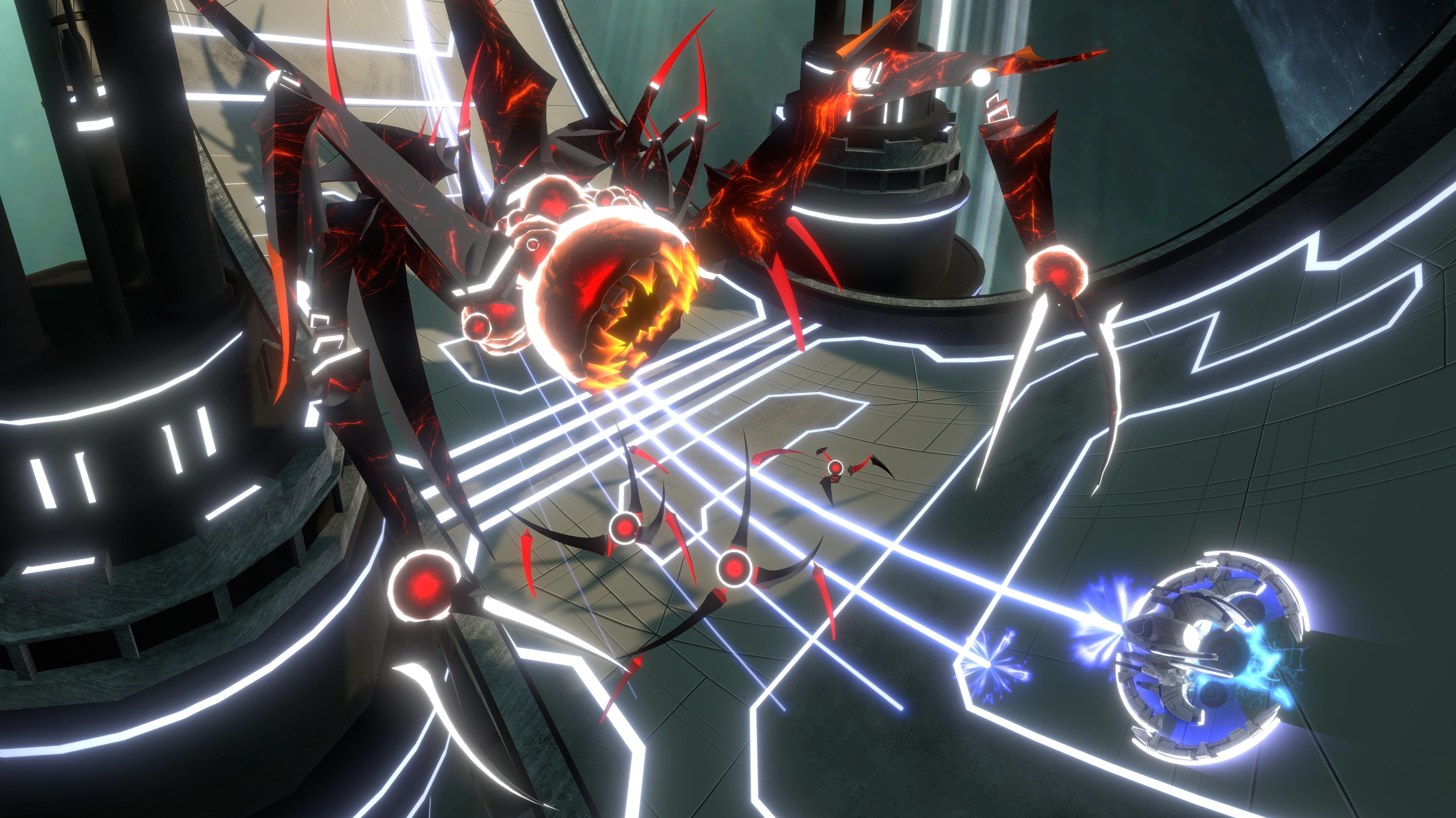 Enter to win a digital copy of space shooter 'Curved Space' for Nintendo Switch, PlayStation 4, Xbox One, or Steam. Giveaway Image