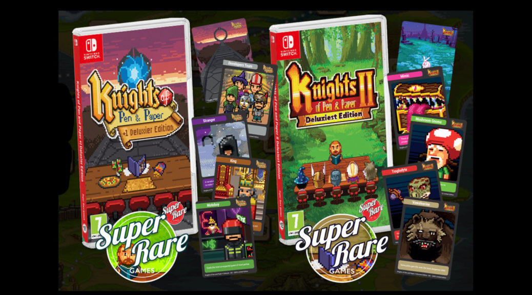 Win a Switch copy of Knights of Pen and Paper Double Pack from Super Rare Games! Giveaway Image