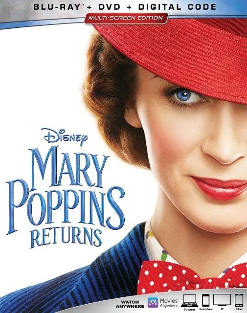 Enter for a chance to win a Blu-ray copy of Mary Poppins Returns Giveaway Image