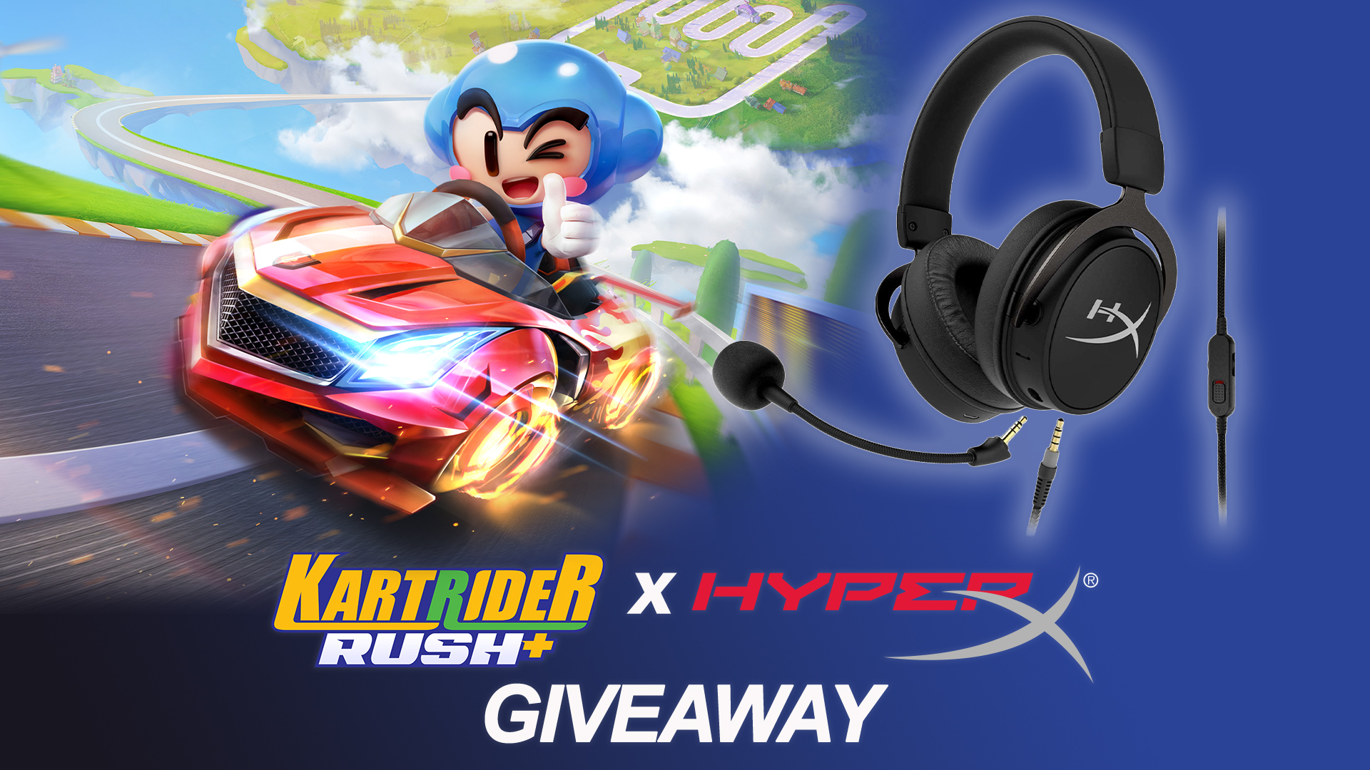 Contest: Win a HyperX Cloud MIX Gaming Headset, courtesy of the newly-launched KartRider Rush Giveaway Image