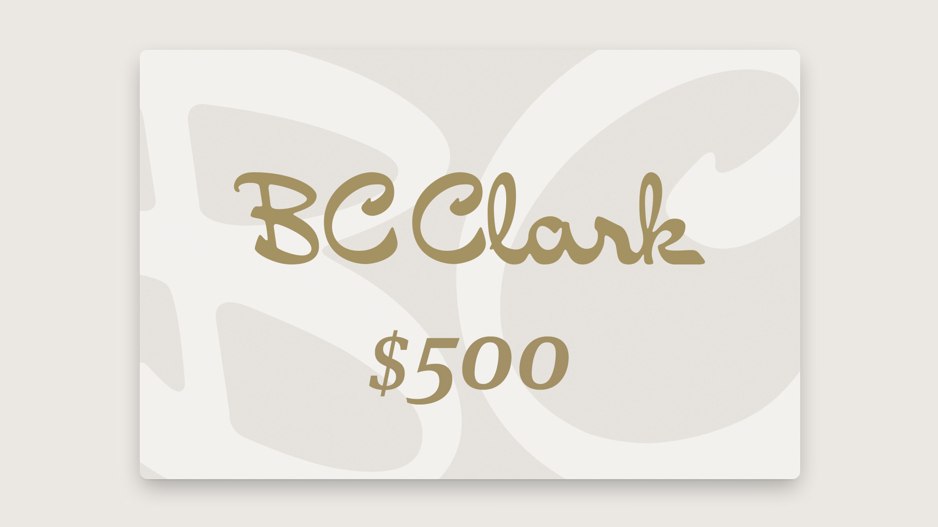 $500 BC Clark Gift Card Giveaway Giveaway Image