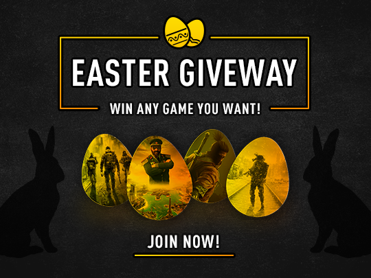 Enter into G2PLAY's Easter Giveaway for a chance to win any game you want! Giveaway Image