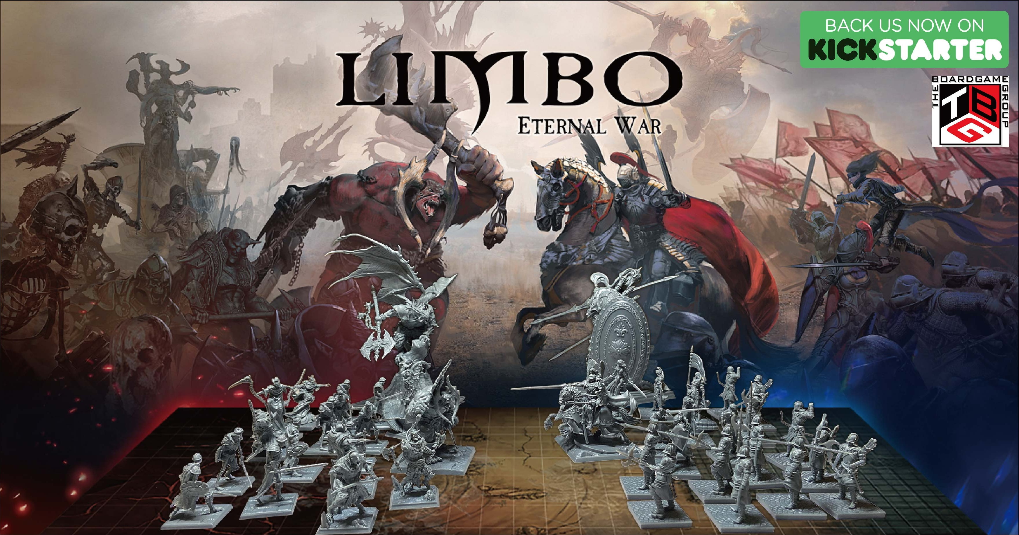 Enter to win a copy of the Board Game 'Limbo: Eternal War' 1.5 Pledge. Courtesy of The Boardgame Group. Giveaway Image