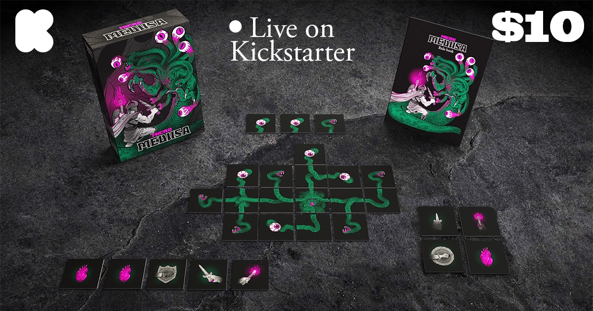 Enter to win a copy of the tabletop game 'Micro Medusa' Premier Play V2 pledge. Giveaway Image