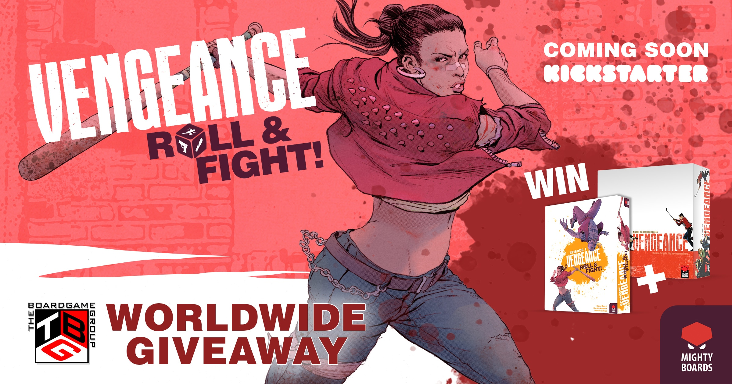 Enter to win a copy of the board game 'Vengeance: Roll & Fight' from Mighty Boards Giveaway Image