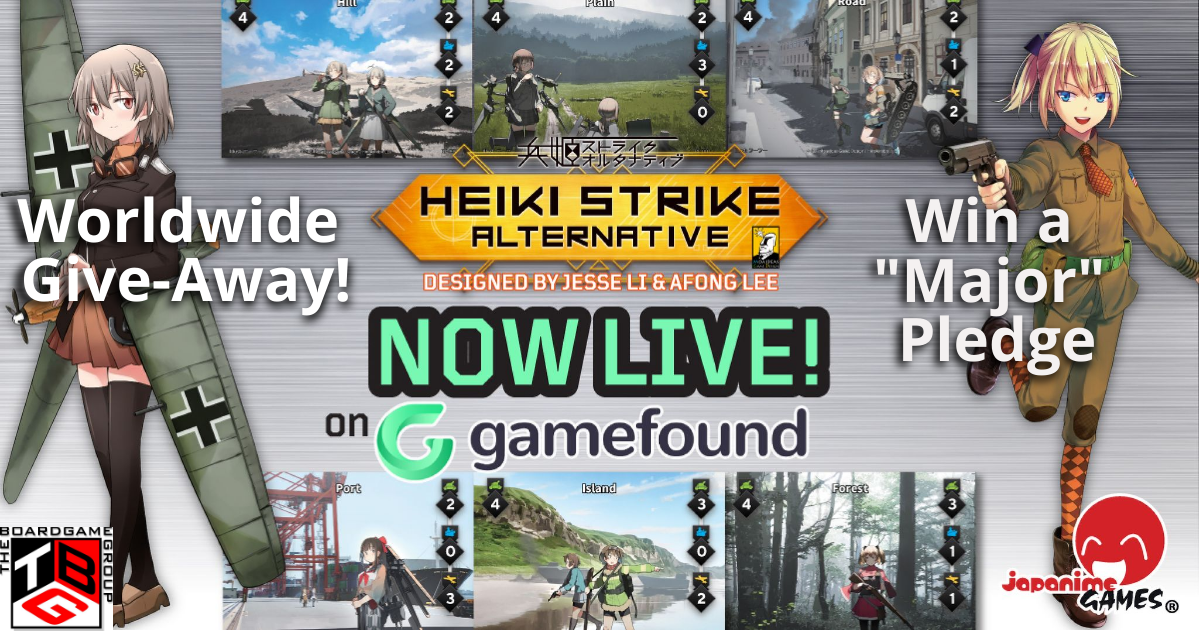 Enter to win a copy of the tabletop game 'Heiki Strike Alternative' -- Major pledge Giveaway Image