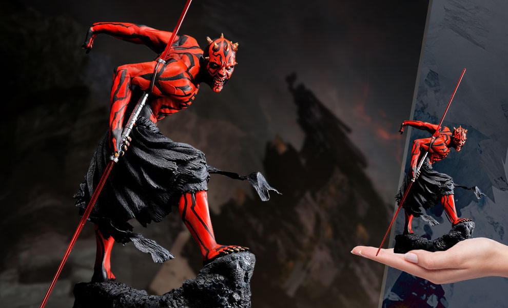 Let Your Geek Sideshow: Darth Maul (Japanese Ukiyo-e Style) Statue giveaway Giveaway Image