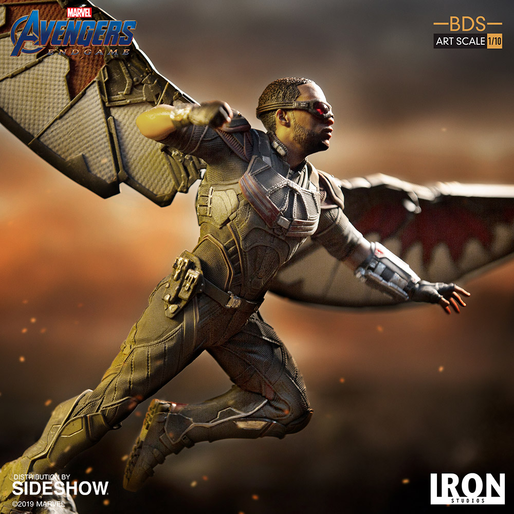 Enter to win the Falcon 1:10 BDS Art Scale Statue from Iron Studios and Sideshow Collectibles Giveaway Image