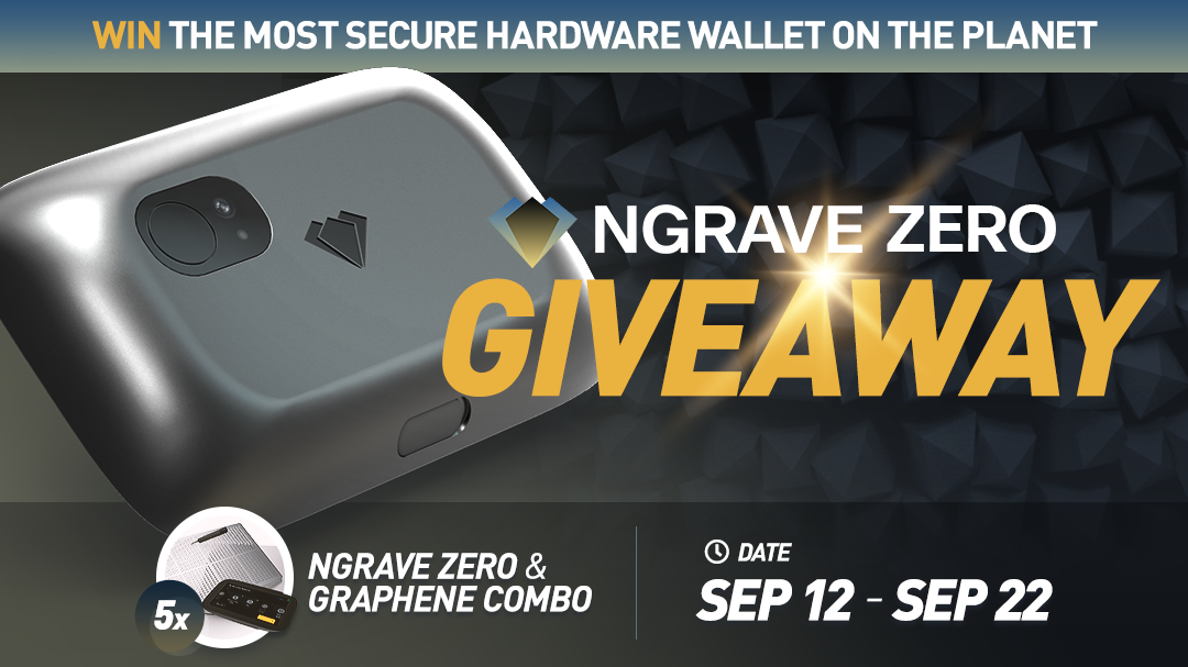 NGRAVE Giveaway. Win a hardware wallet!   some restrictions Giveaway Image