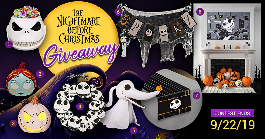 Win $100 of Nightmare Before Christmas decorations Giveaway Image
