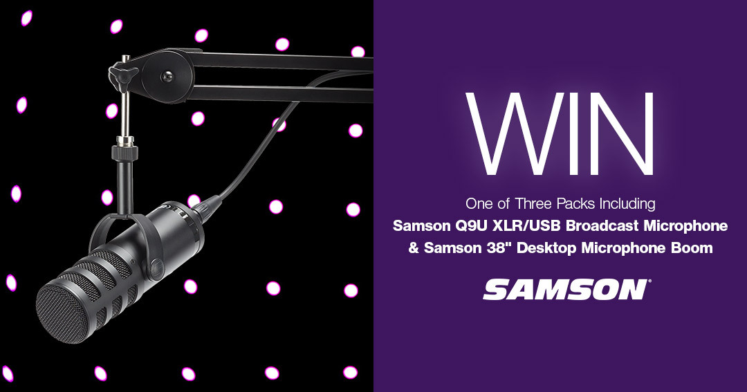 WIN One of THREE Samson Q9U Broadcast Mic Boom Arm Packs Giveaway Image