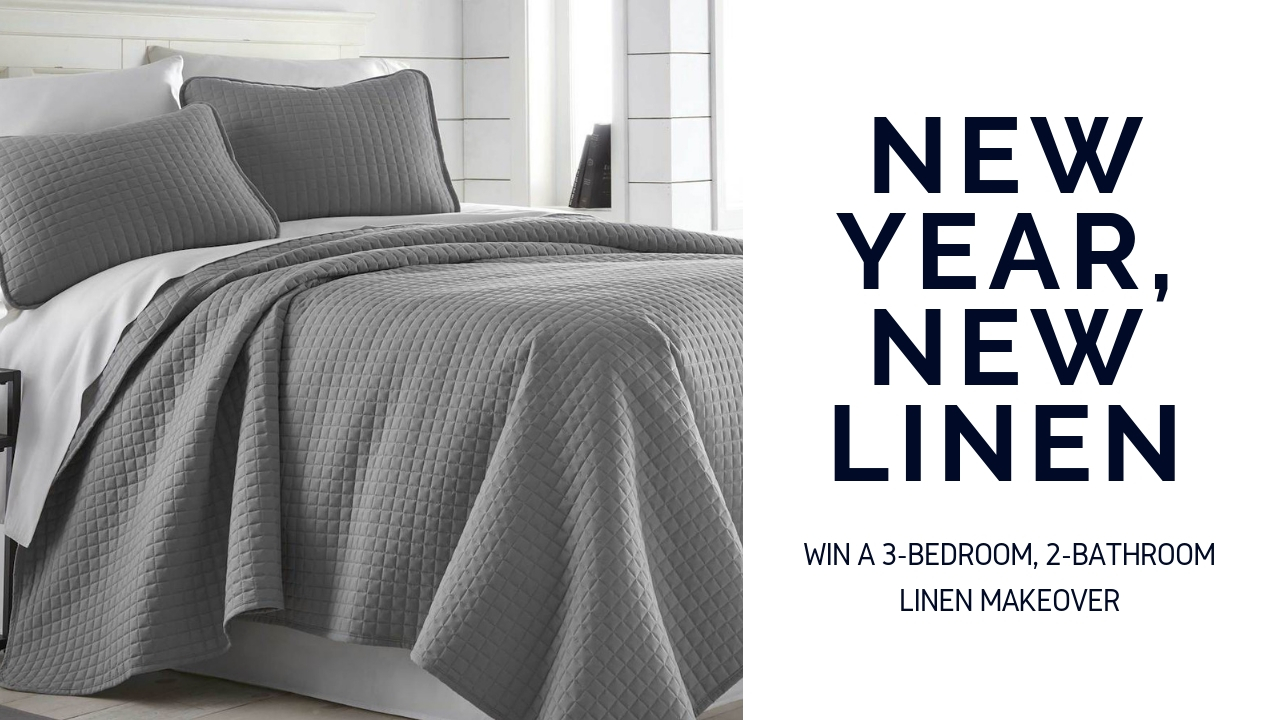 Enter for a chance to win a 3 bedroom, 2 bathroom bedding and linen makeover, worth $400 Giveaway Image