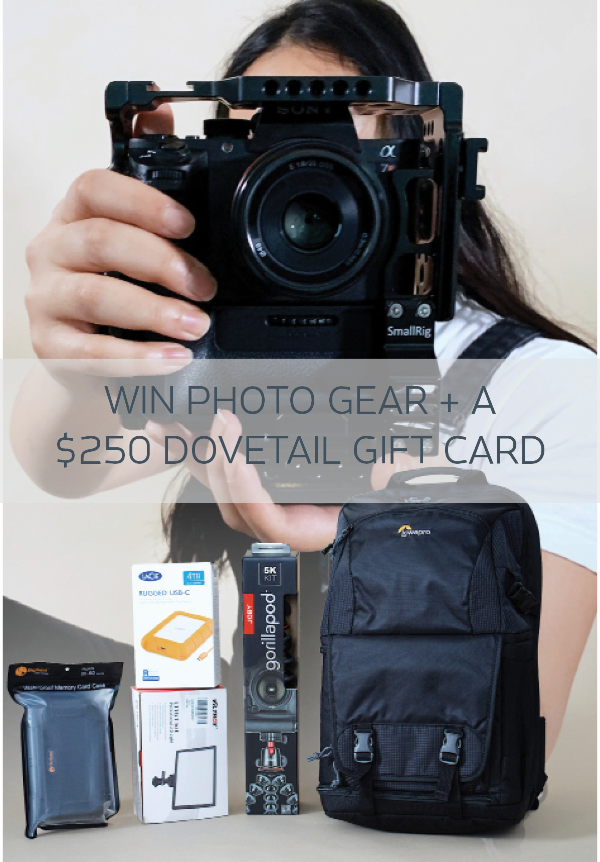 The Photographer's 2020 Vision Package. Win $250 Dovetail Workwear giftcard, 4TB Hard Drive, Gorilla Tripod Giveaway Image