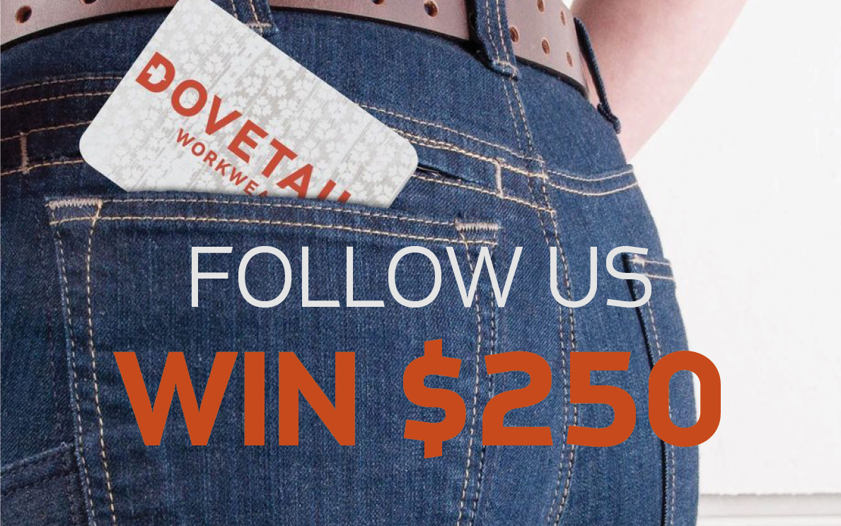 Win $250 to Dovetailworkwear Giveaway Image
