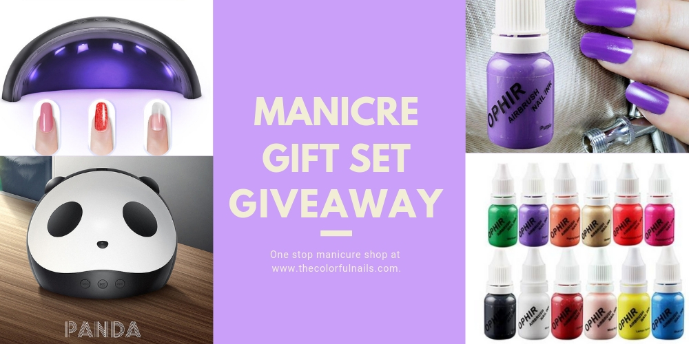 12 color manicure aet with uv dryer   some restrictions Giveaway Image